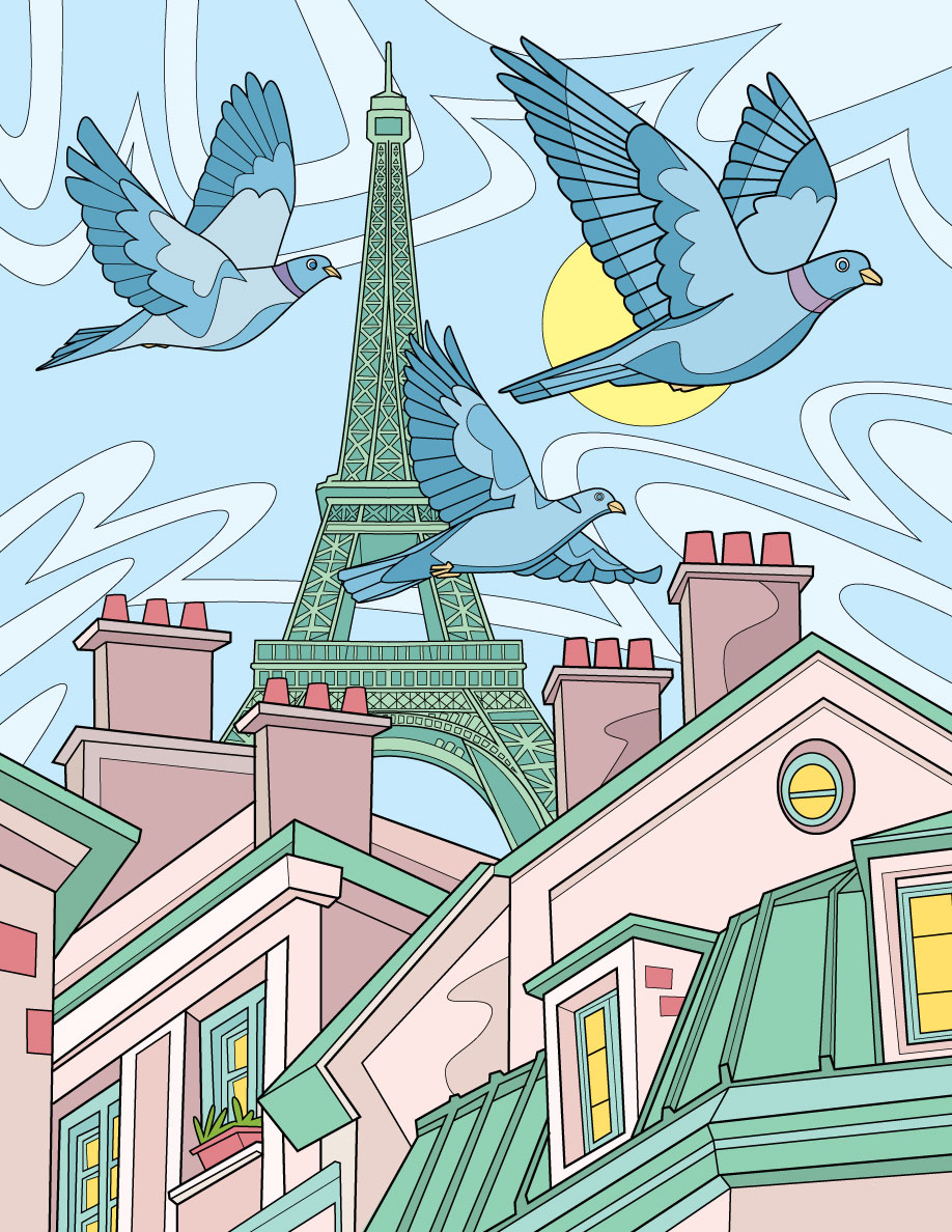Pigeons In Paris - RS828a