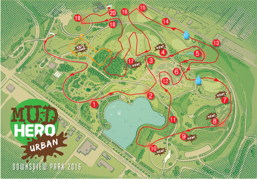 Urban Mud Hero Map - CW236