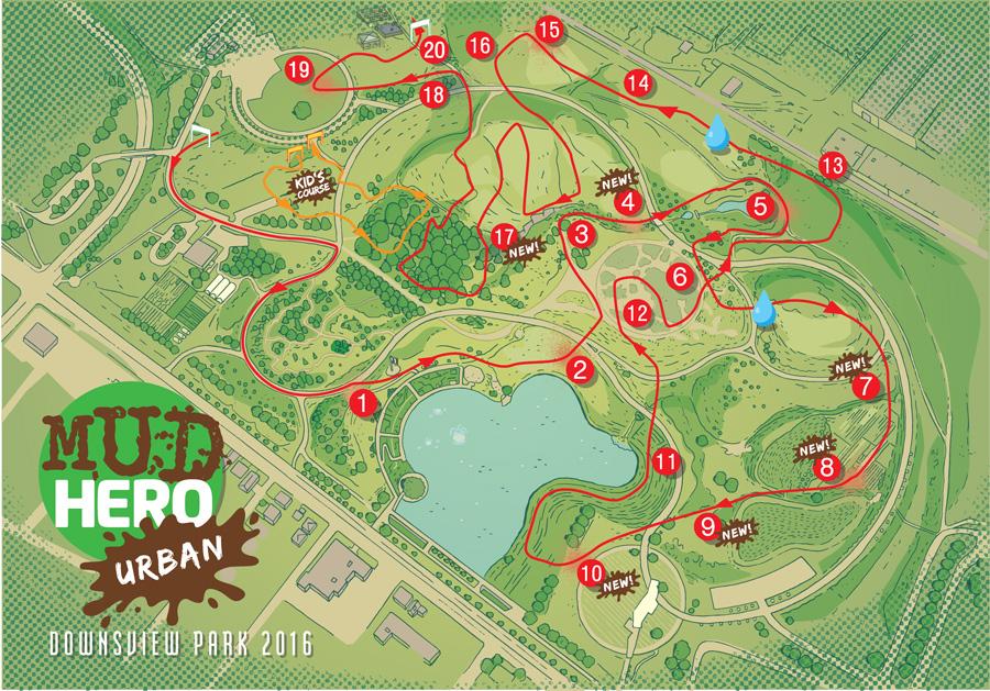 Urban Mud Hero Map - CW236