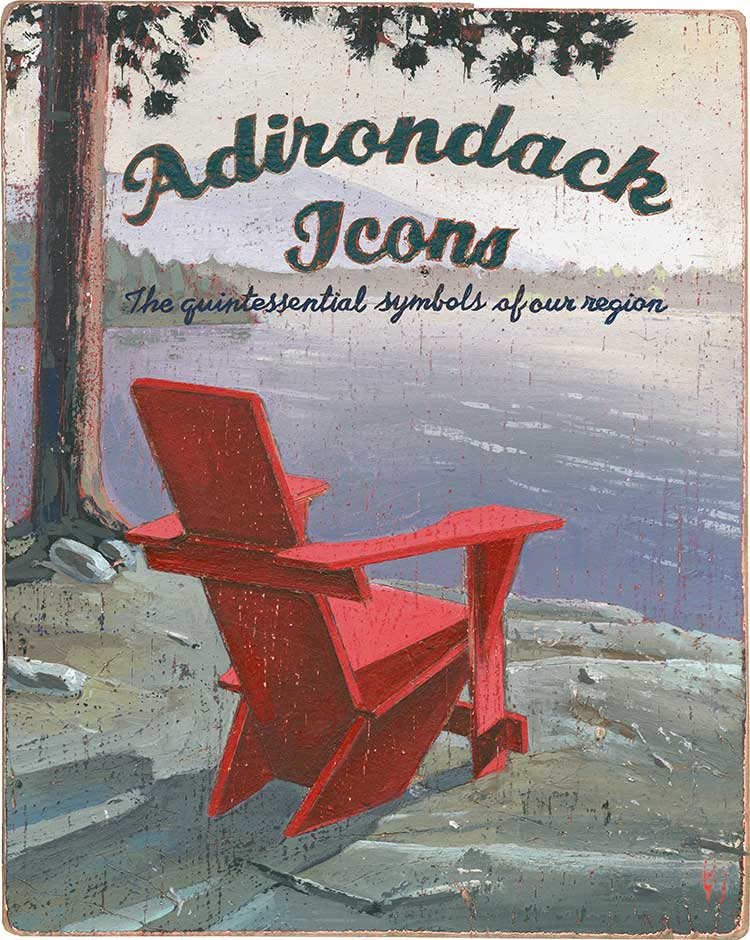 Adirondack Icons. Illustration by Phil