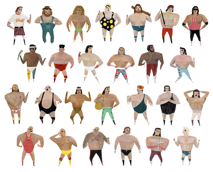 Wrestlers Galore - MH774