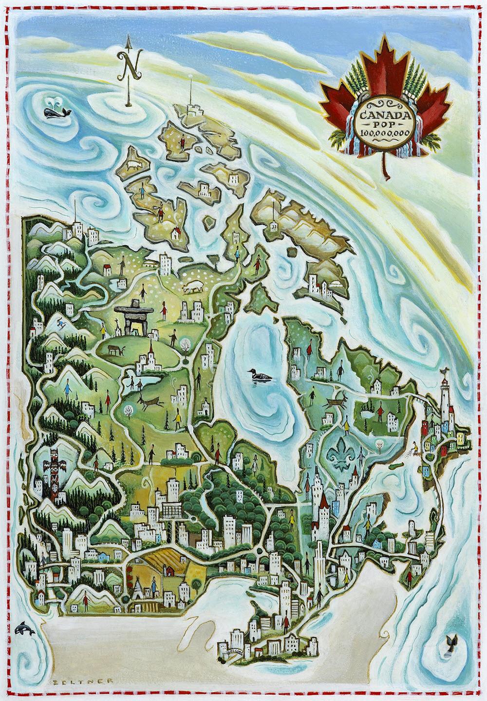 Canada: Population 100,000,000 - TZ488