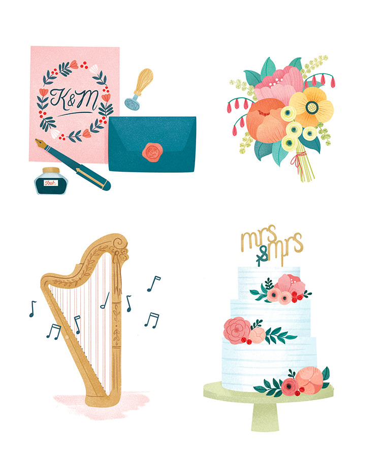 Tips from the Wedding Pros Illustrations by Clare Owen