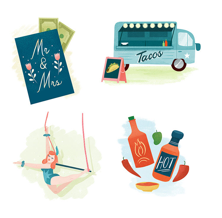 Great Wedding Ideas Illustration by Clare Owen