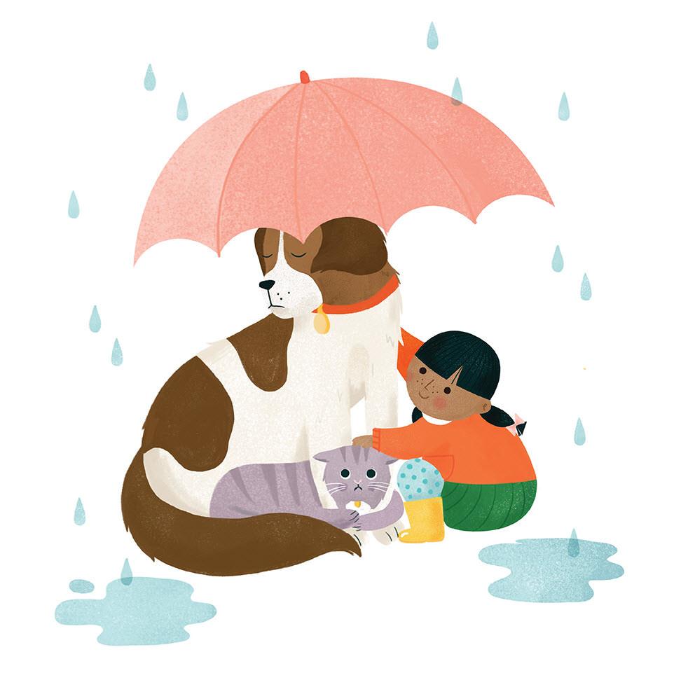 Cuddles in the Rain - CO394