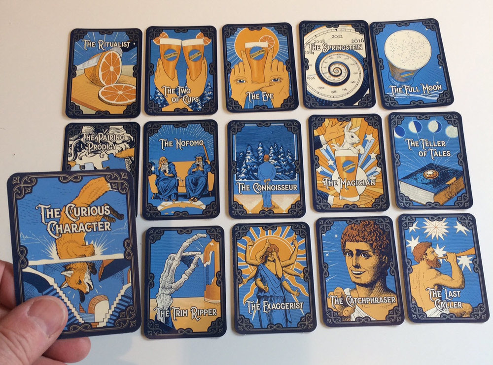 Belgian Moon's Tarot Cards. Collect them all this summer.