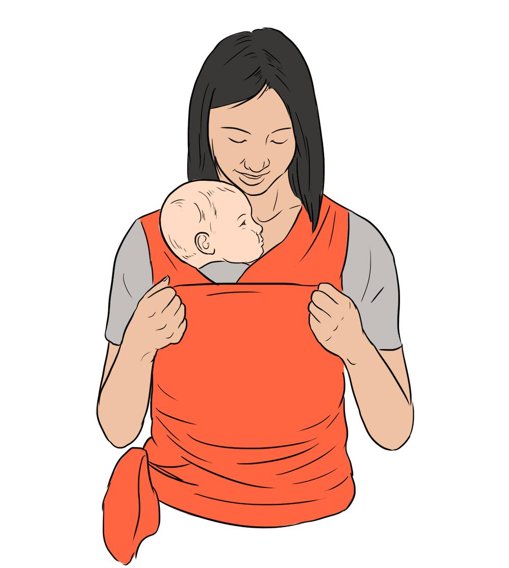 Baby Wearing.  Inside Illustration by Jillian Ditner for Chronicle Books book, Nurture.