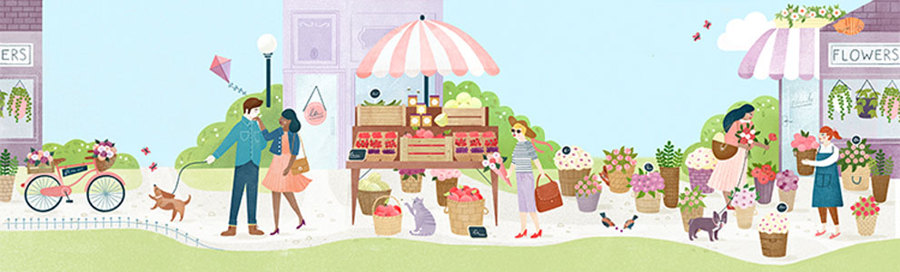 Summer Day. Illustration by Clare Owen. Represented by i2i Art Inc,