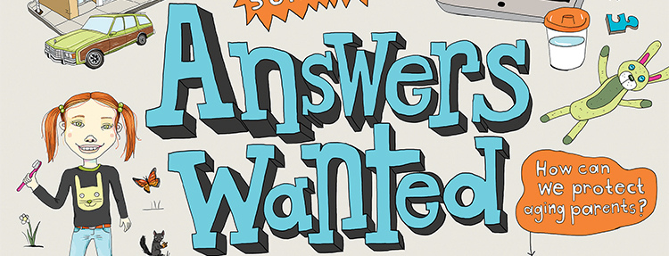 Answers Wanted. Illustration by Monika Melnychuk. Represented by i2i Art Inc.
