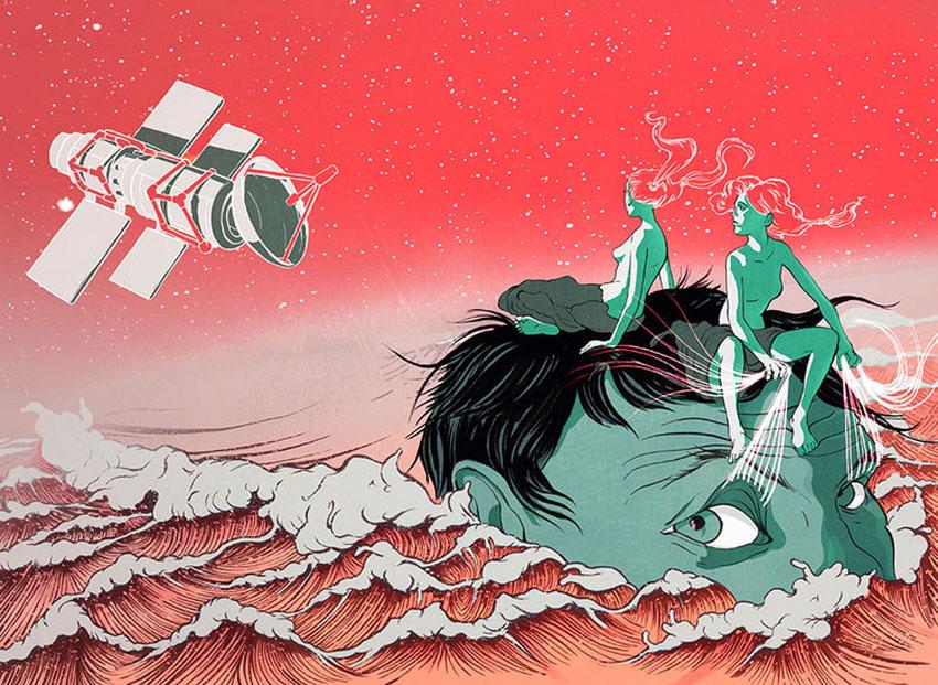'Satellites Measuring Sea Depths'