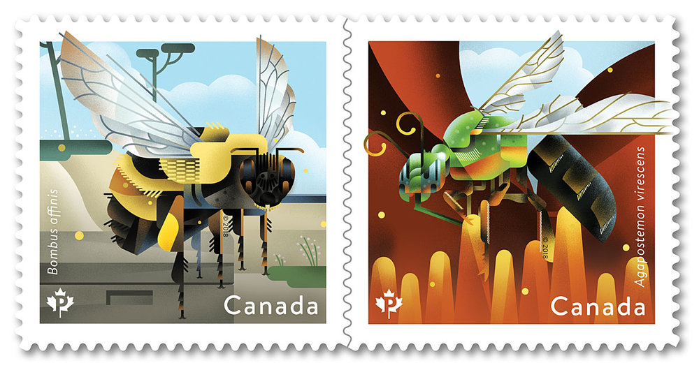 Canada Post 2018 Bee Stamps
