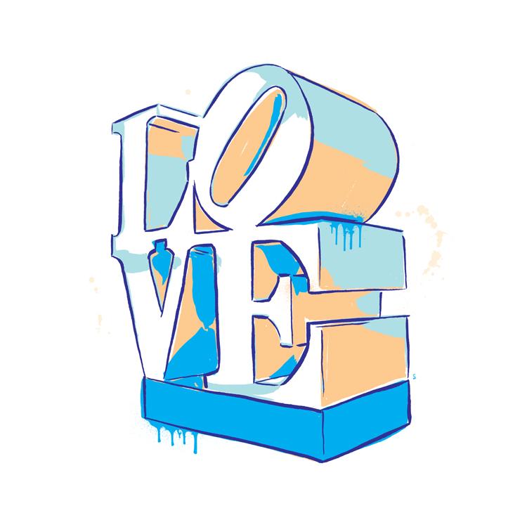 'LOVE' sculpture inspired by artist Robert Indiana's pop art piece