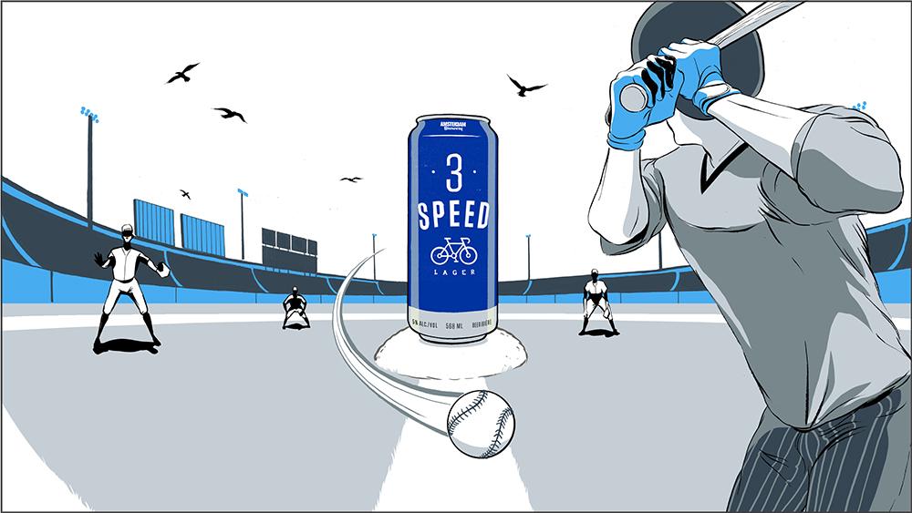 'Amsterdam Brewery - 3 Speed'. Illustration by Ryan Garcia.