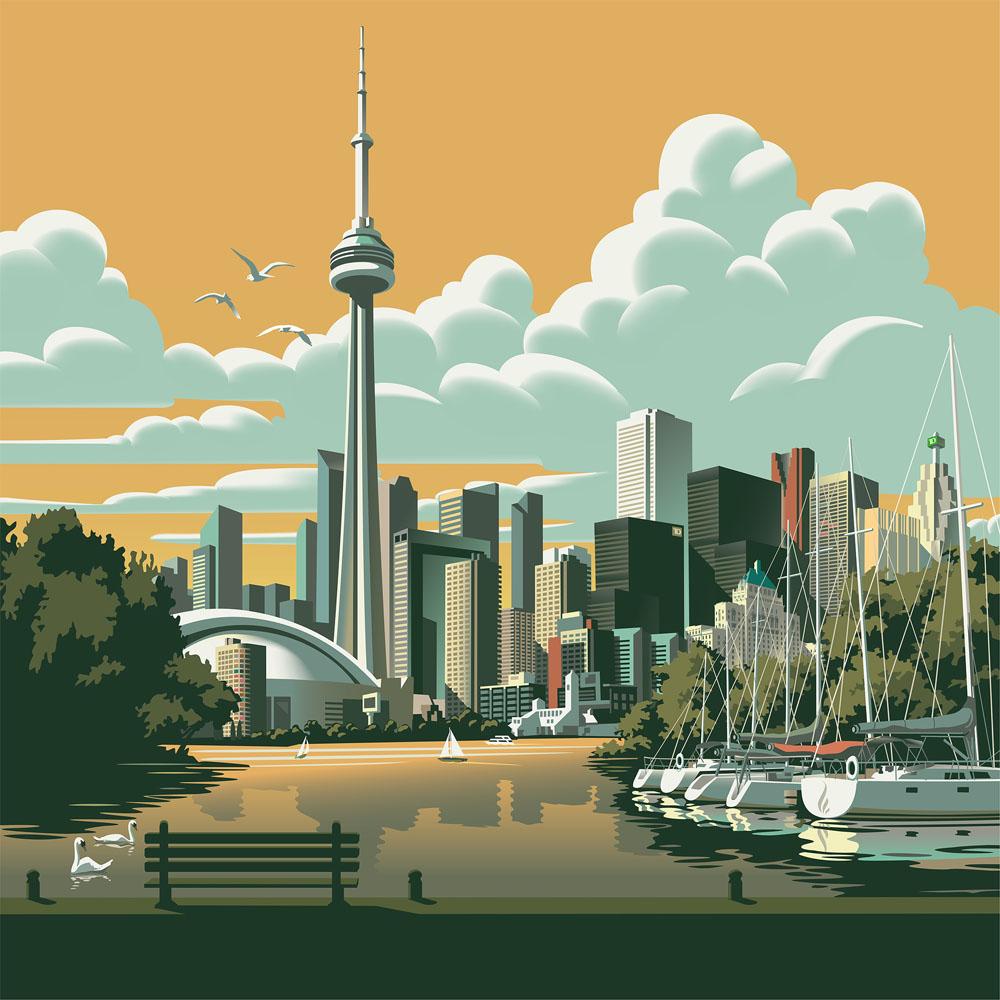 'City of Toronto'. Illustration by Gary Alphonso.