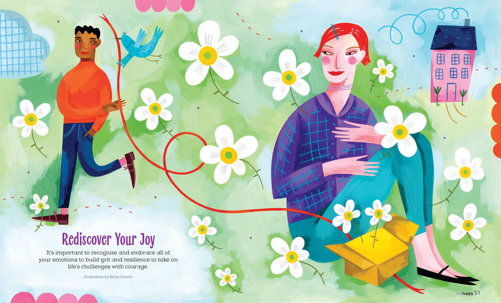 Rediscover Joy. Illustration by Betsy Everitt.