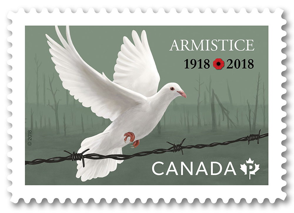 Armistice Commemorative Stamp - JD458