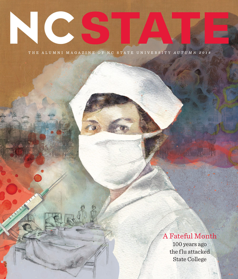 NC State cover. Illustration by Janice Kun.