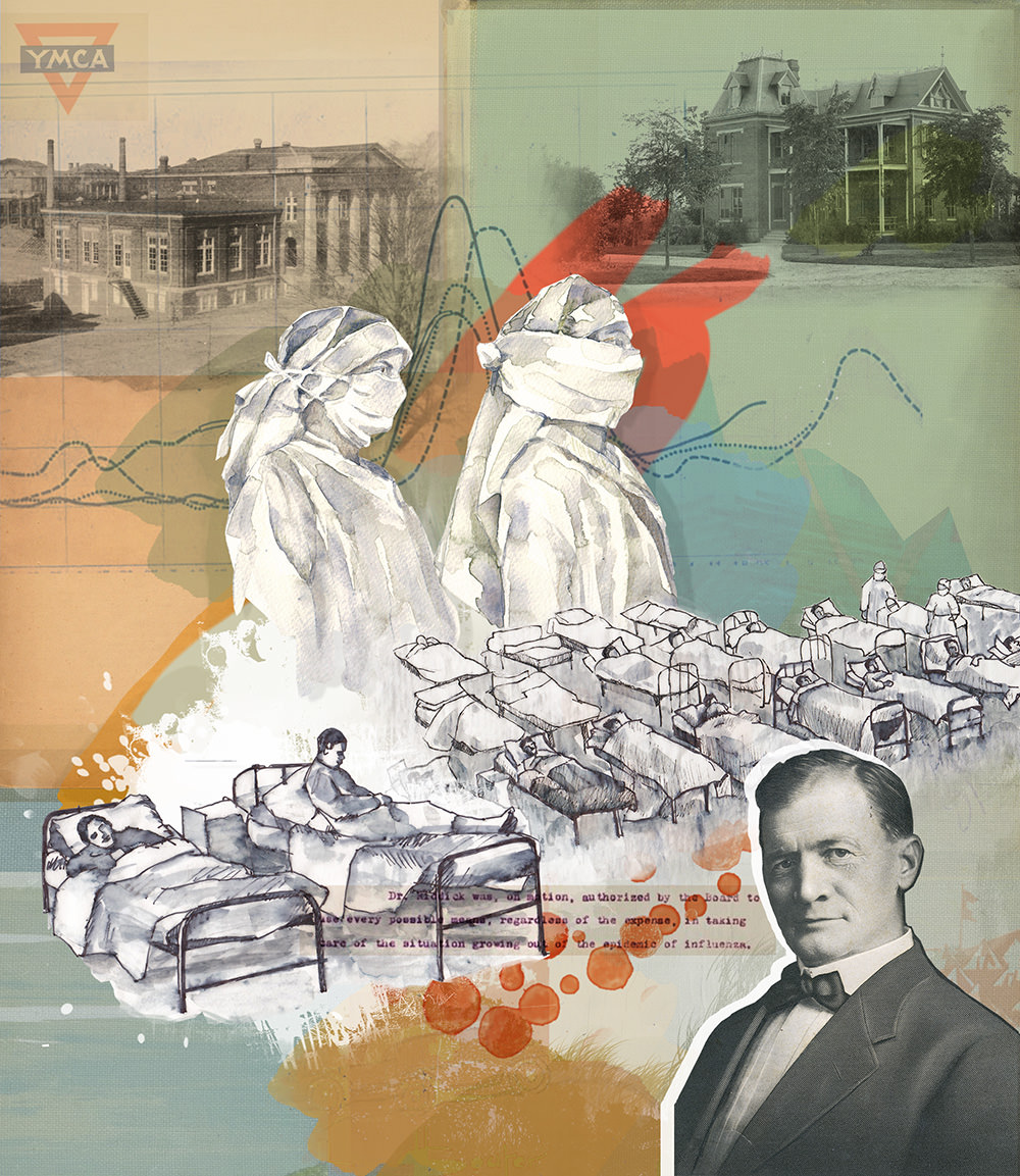When the flu pandemic of 1918 hit State College, the campus turn into a hospital for 450 sick students.