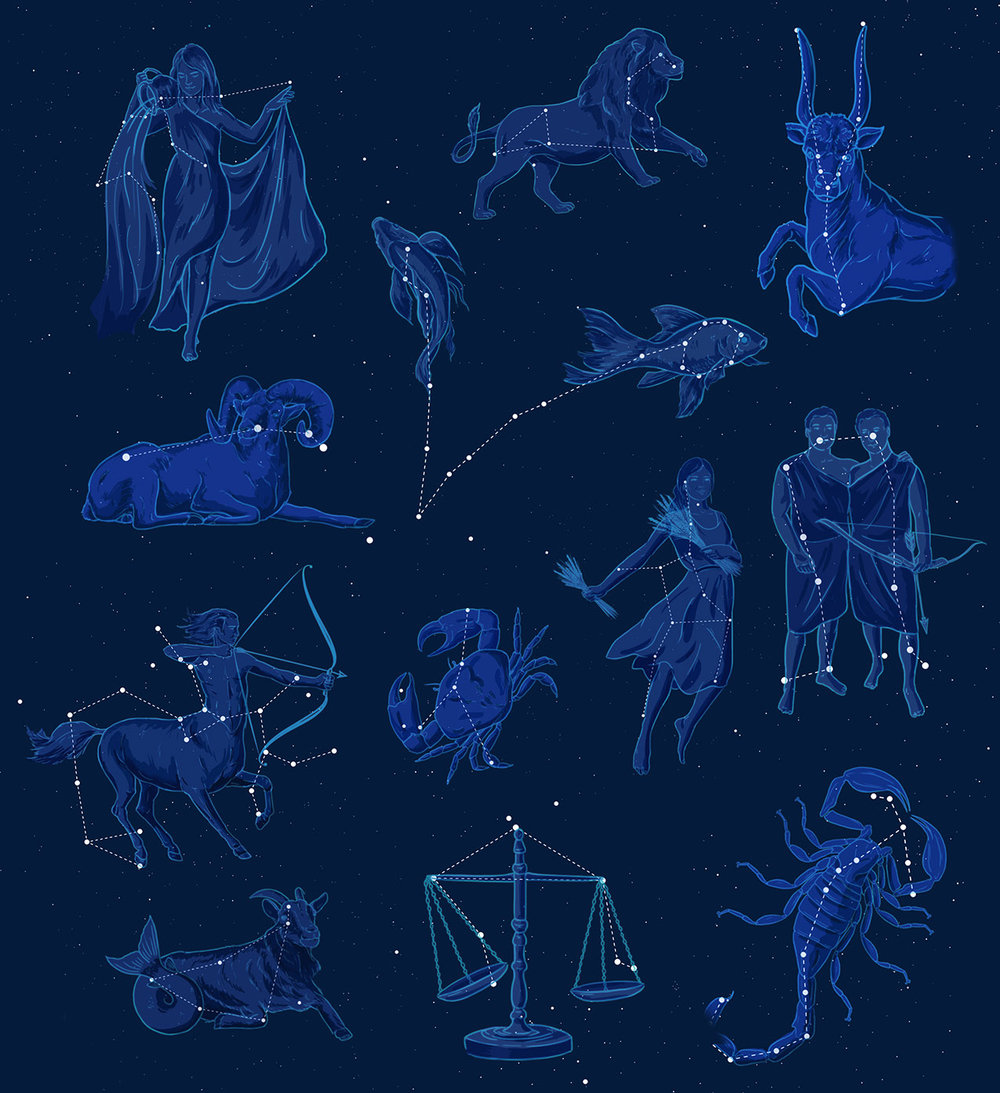 Zodiac at Night - JD465