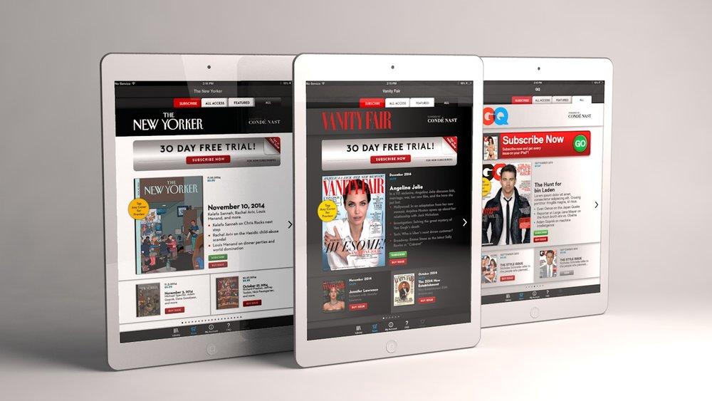 Condé Nast custom digital storefront