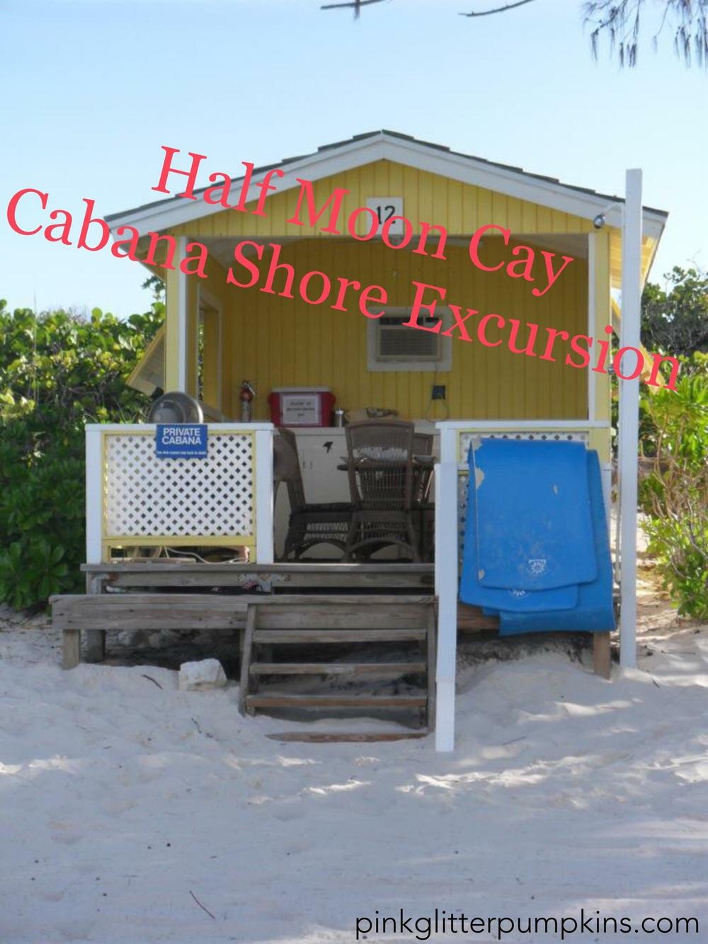 Half Moon Cay Cabana Shore Excursion Pink Glitter Pumpkins