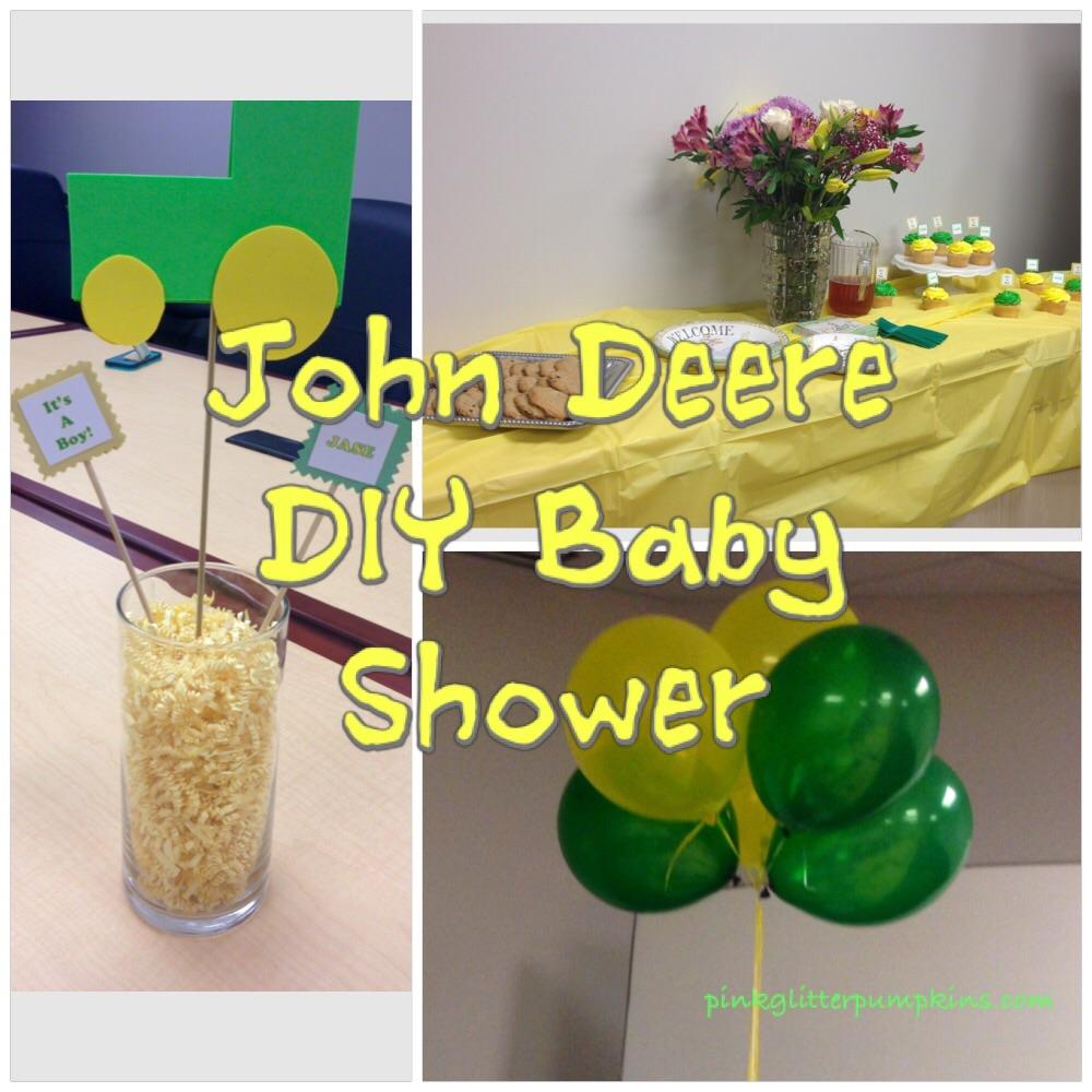 John Deere Diy Baby Shower Pink Glitter Pumpkins
