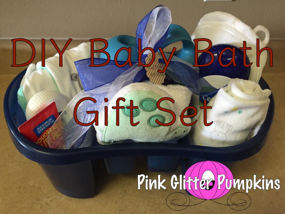 DIY Baby Bath Gift Set — Pink Glitter Pumpkins