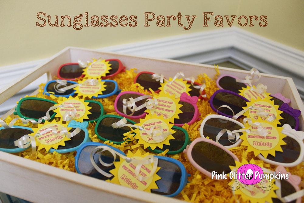 d07fe73c0fb9 Sunglasses Party Favors — Pink Glitter Pumpkins