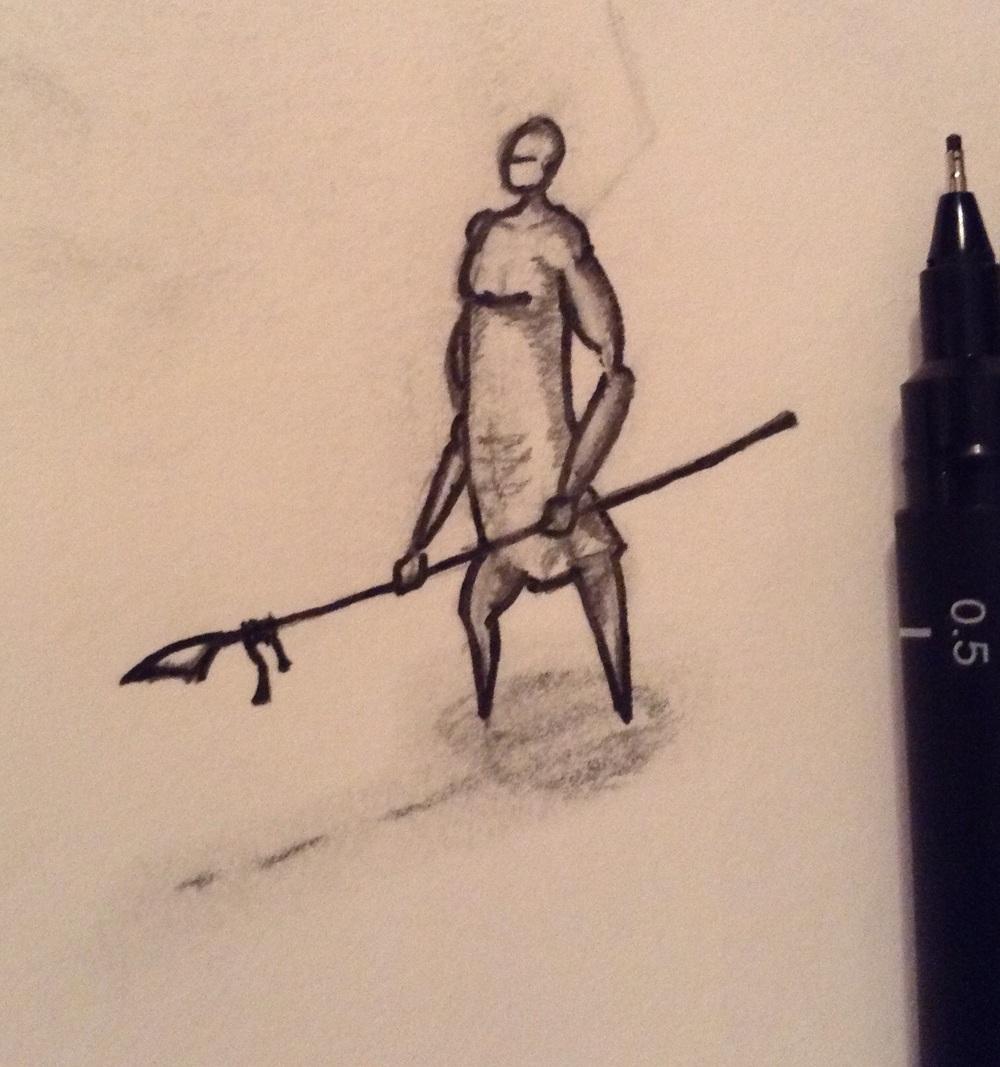 Initial concept sketch.