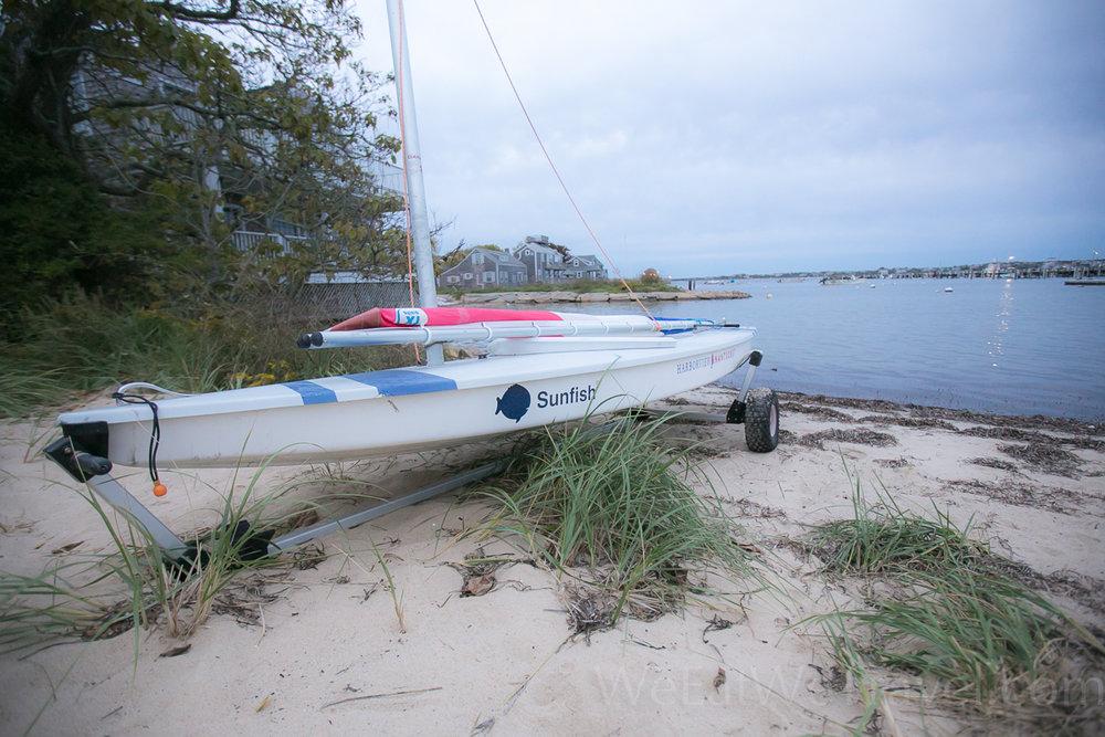 Harborview Nantucket's Sunfish sailboat