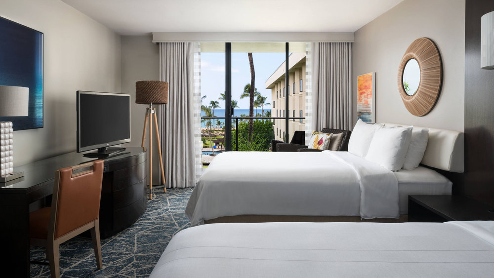 Double/Double Ocean View Guest Room. Photo courtesy of Marriott