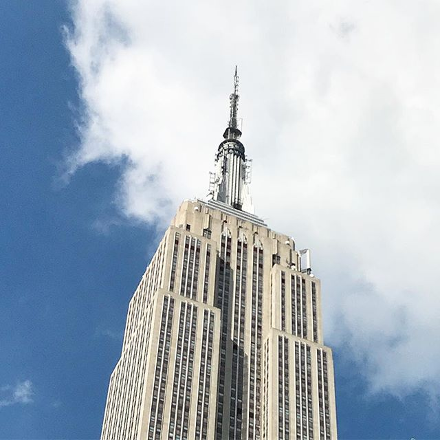 As a native New Yorker, I often walk by beautiful skyscrapers and move on with the foot traffic. This morning I actually looked up and admired the beauty of the Empire State Building @empirestatebldg #nyc #skyscraper #tgif