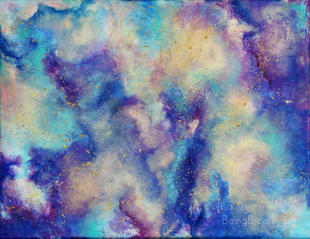 """""""COSMOS"""", 11x14, acrylic on gallery wrapped canvas. Lisa Renee Wilson"""