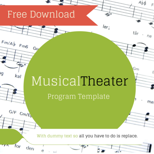 FREE Musical Theater Program Template — Theaterish