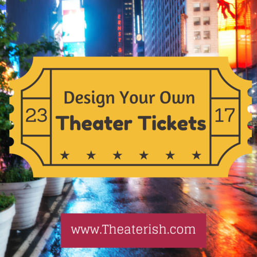 theatre ticket template theater ticket template