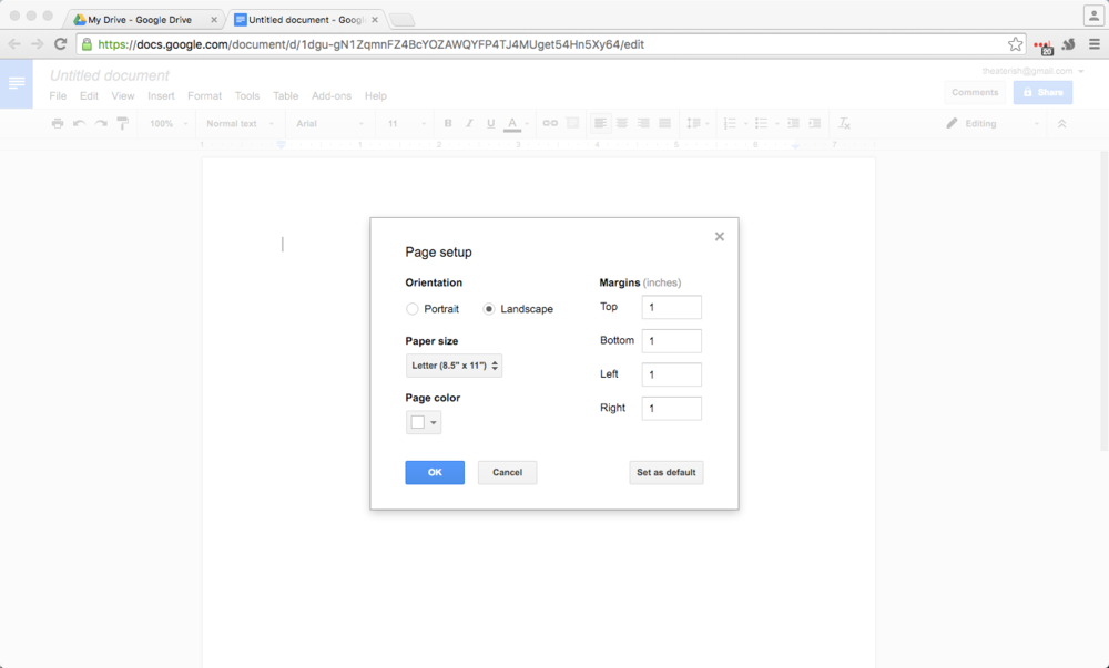 Youre Going To Want Turn Your Document From A Portrait Orientation Landscape Select File Page Set Up And Pop Box Will Open
