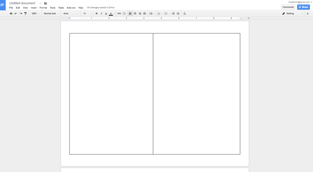 How to create a show program in google docs theaterish for Google table design