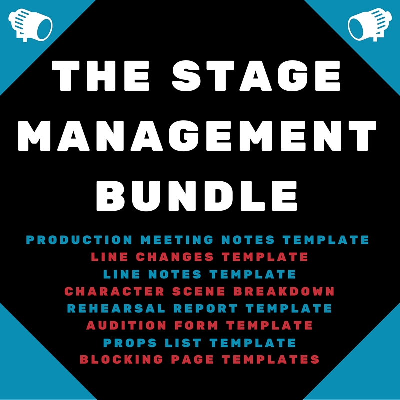 The stage management bundle theaterish for Scene breakdown template