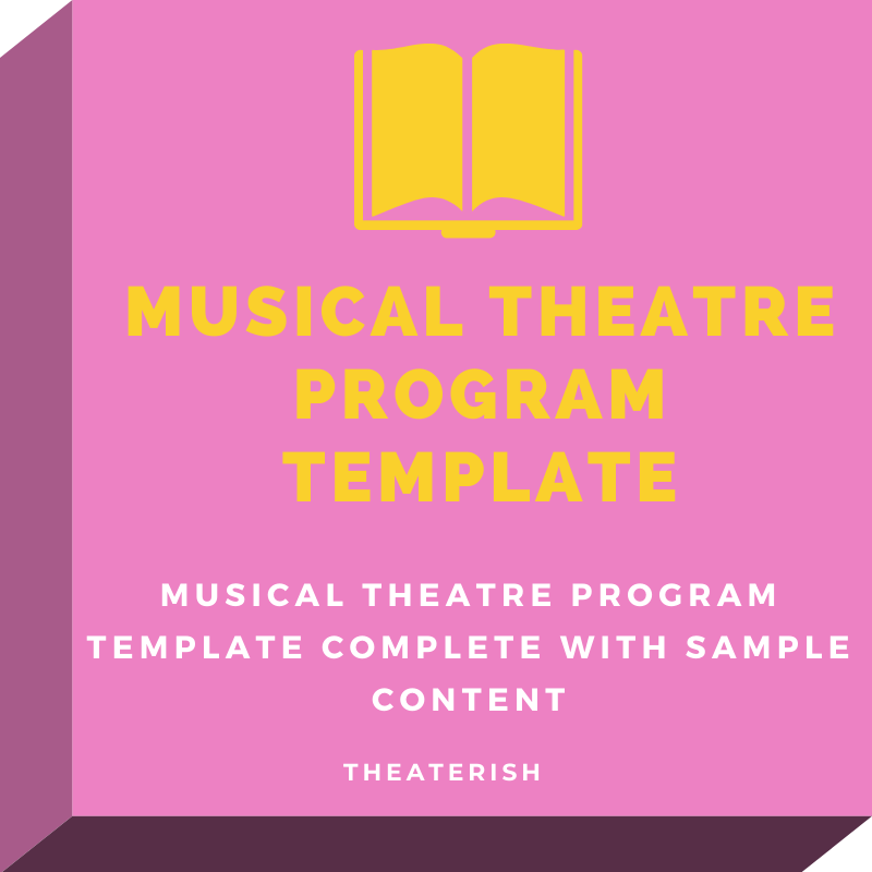 free musical theater program template  u2014 theaterish
