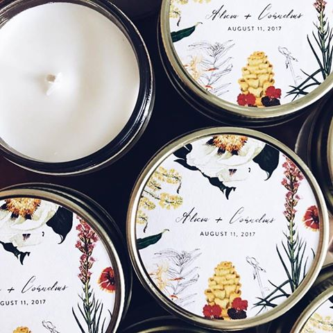 Custom Candles - We love being a part of special occasions! We can customize labels to give your guests a sweet smelling gift they can enjoy in their homes.If you are interested in sharing Vessel with your guests, please email us at vesselcandleco@gmail.com