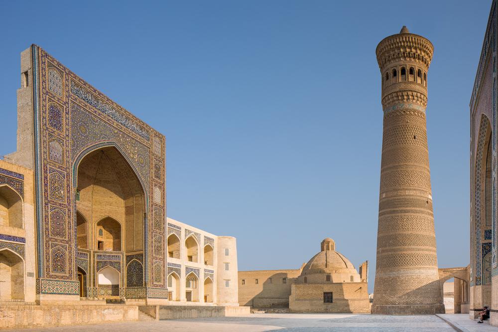 Kalon Minaret in Bukhara Uzbekistan