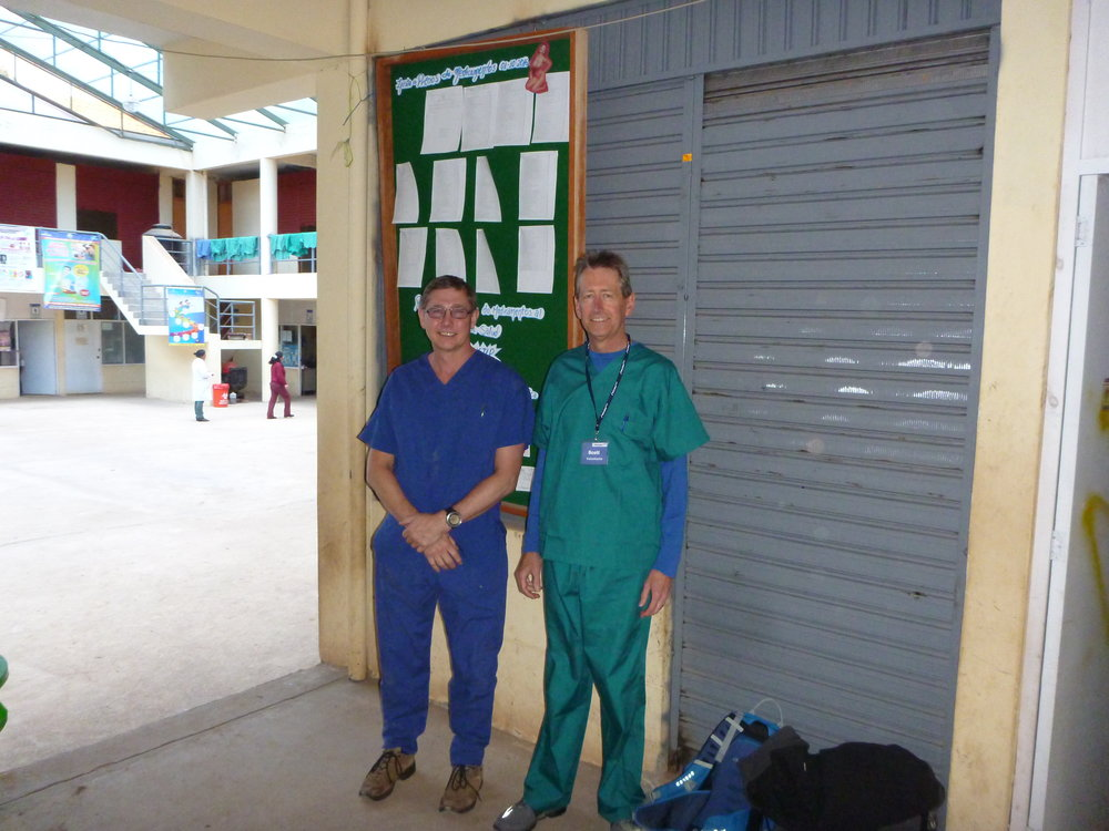 Phil and Scott at the clinic in Peru