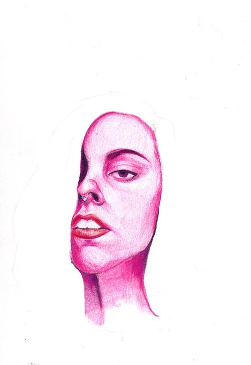 pink self portrait