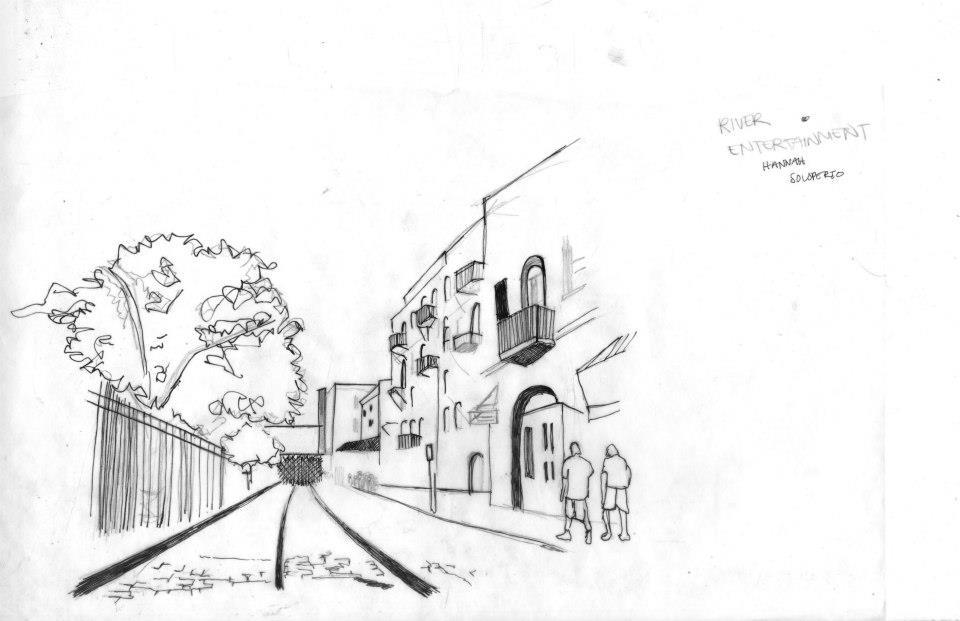 river street urban sketch