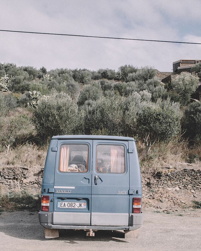 New project up.  Along the northern Spanish coast pulled over to take in Dalis house floating somewhere across the disappearing skyline. This little magical wagon trailed behind us; We couldn't understand them but somehow felt at home as they pressed against each other in the wind. . . . . . .