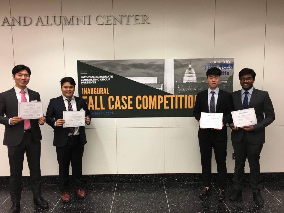 1st Place: Won Han, Vaibhav Jain, Hyunjung Kim, and Jae Hun Jung    2nd Place: Isaac Cohen, Shadan Samani, Charlie Ferrara, and Spencer Becerra    3rd Place: Eduardo Frances, Mateo Yibrin, and Juan Pablo Poch.