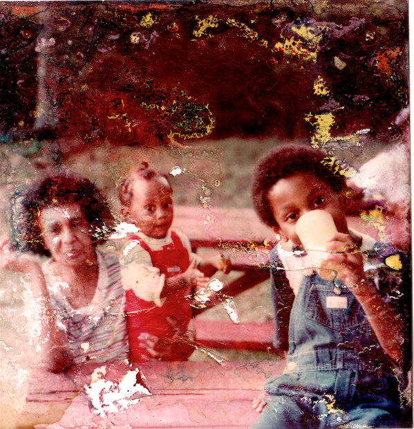 In picture: Aunt Elnora (Grand Aunt), Princess (Sister), Ron J (me)  //  Photog: Ron Sr. (Dad)