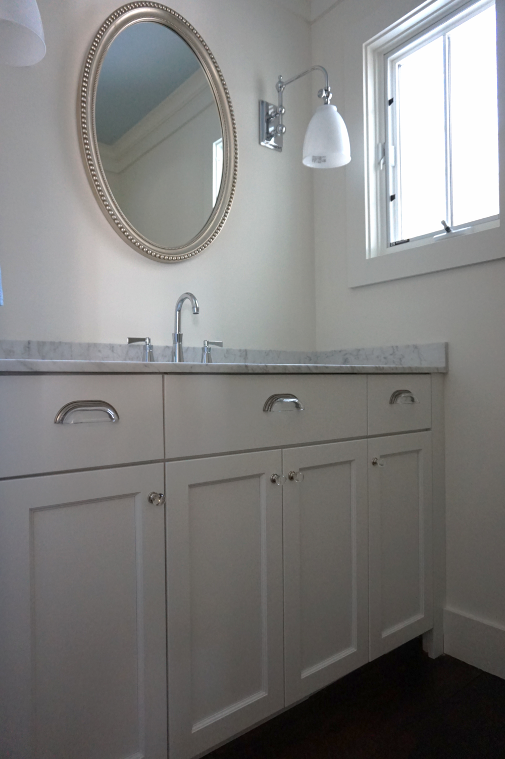 Renovated Powder Room in Ridgefield CT