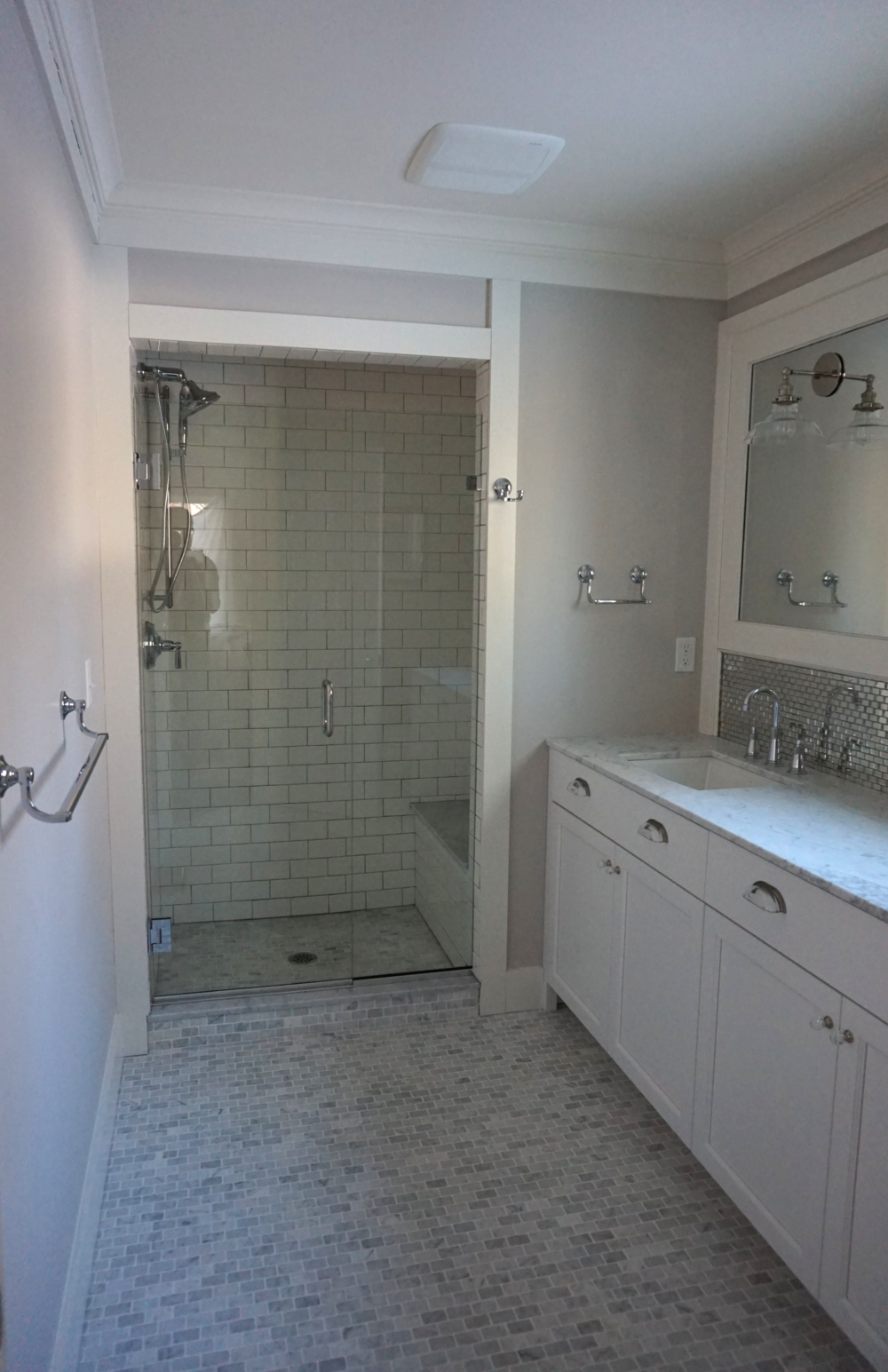Renovated Master Bathroom & Shower in Ridgefield CT