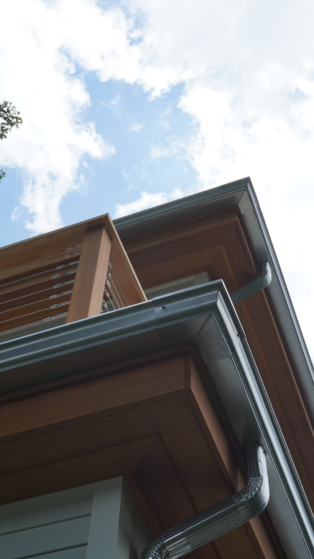 New Home Design Build Koala Residential -Galvanized Gutters